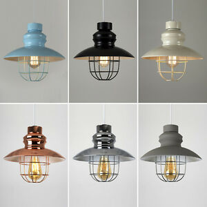 Vintage-Industrial-style-metal-Fishermans-Cage-Ceiling-HOMOLOGUE-Light-Lamp-Shades