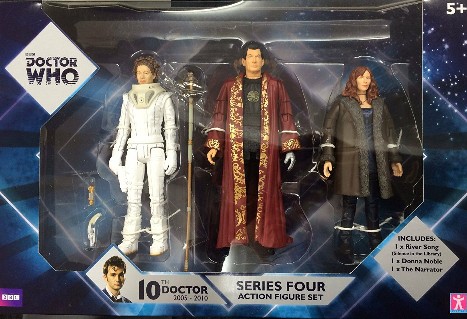 Doctor Who Series 4 Action Figure Set River Song, Damenschuhe Noble and The Narrator