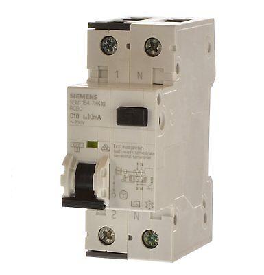 Siemens 5SU1356-6KK16 FI//LS Schalter RCBO B16 1P+N 30 mA NEU OVP