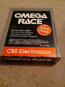 OMEGA RACE by CBS for ATARI 2600 ▪︎ CARTRIDGE ONLY ▪︎FREE SHIPPING ▪︎