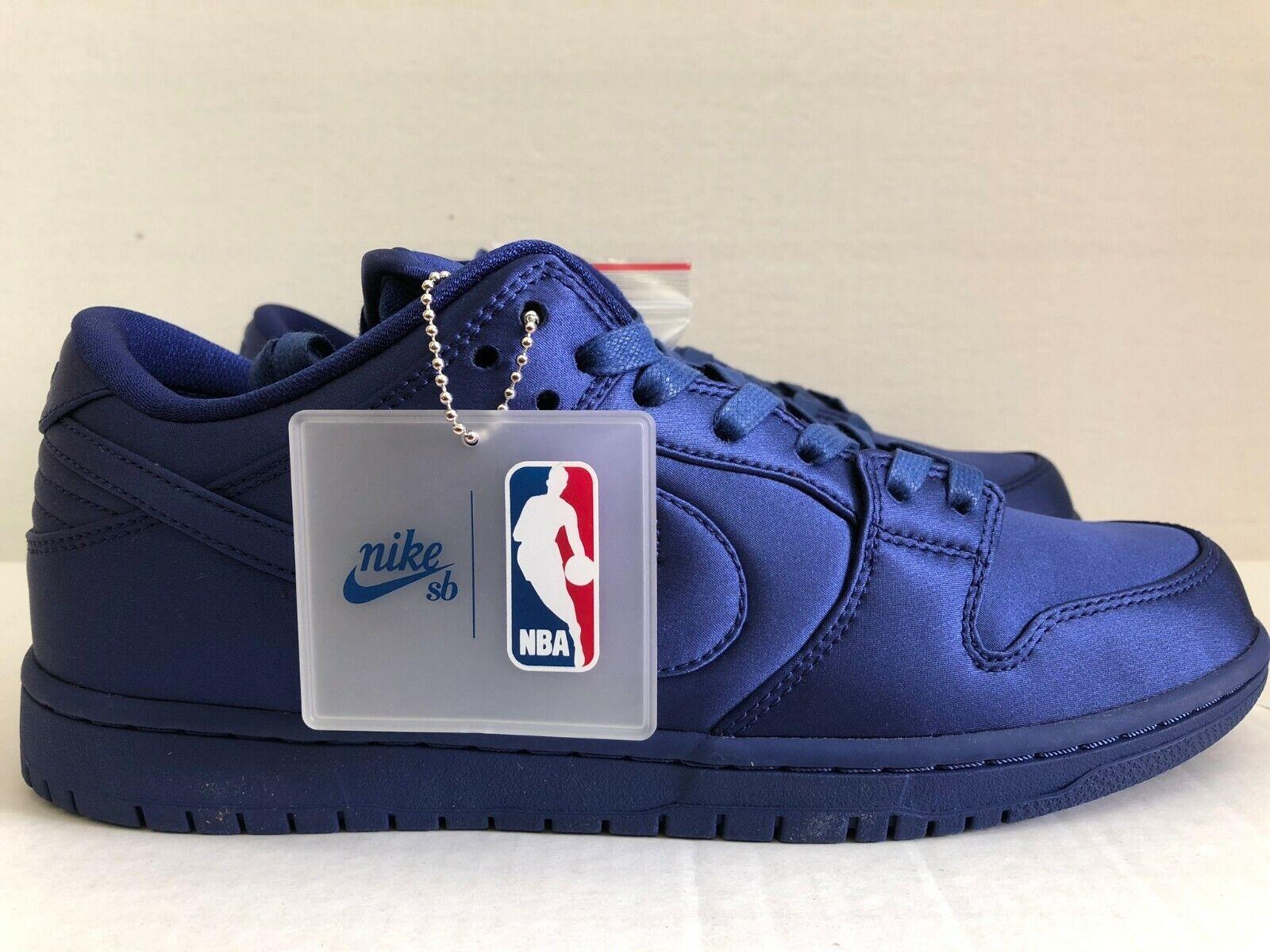 info for 5cb53 a6f88 Nike SB Dunk Low TRD x NBA Satin Deep Deep Deep Royal blueee ...
