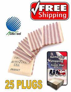 Brown-Seal-Tire-Plugs-25-SEALS-100-SELF-VULCANIZING-TUBELESS-TIRE-REPAIR-PLUG