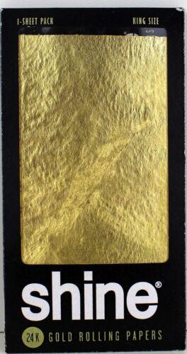 1x Rolls Smart Filter 1x SHINE 24k King Size Paper Gold 1 Sheet Goldpapier