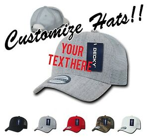f51ec22b1 Details about CUSTOM EMBROIDERY Personalized Customized Decky Trucker  Snapback Cap Hat 1053