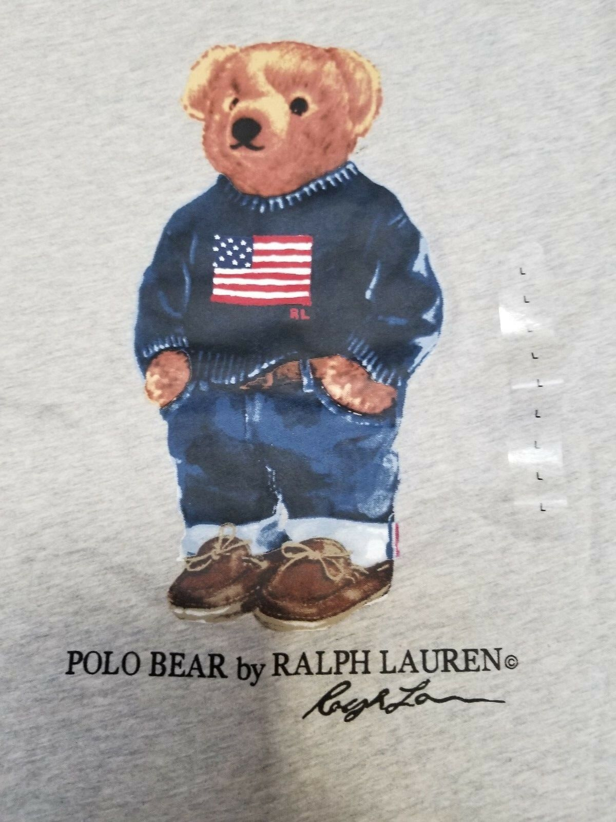 NEW  Herren Polo Ralph Lauren Limited Edition USA Flag Polo Bear T Shirt Great Gift