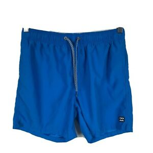 Billabong-Layback-Mens-Swim-Shorts-Board-Shorts-Size-30-Blue-Elastic-Waist