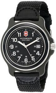 NEW-Victorinox-Swiss-Army-Men-039-s-249087-Original-XL-Swiss-Quartz-Black-Watch