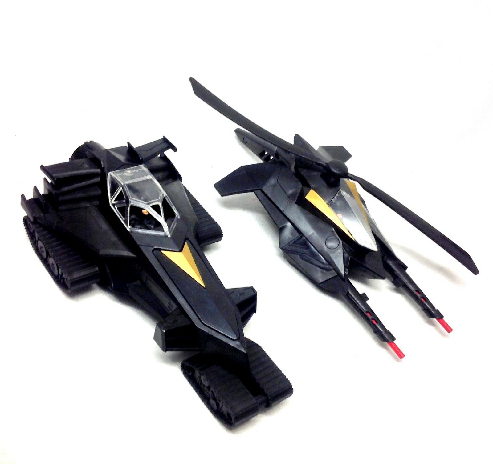 DC Comics BATMAN DARK KNIGHT BAT COPTER & BAT TANK toy vehicles, 5   figure size