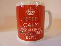 KEEP CALM AND LISTEN TO BACKSTREET BOYS  MUG CARRY ON RETRO GIFT CUP