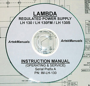 Details about Lambda LH130 LH130-FM LH130-S DC Power Supply, Operating &  Service Manual