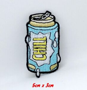 Refroidir-Neuf-Biere-Peut-Chill-Brode-Repasser-Patch-a-Coudre-1197