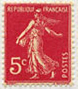 Francia-Stamp-Sello-Yvert-N-278-B-034-Tipo-Sembradora-Fondo-Liso-5C-034-New-Xx-Lujo