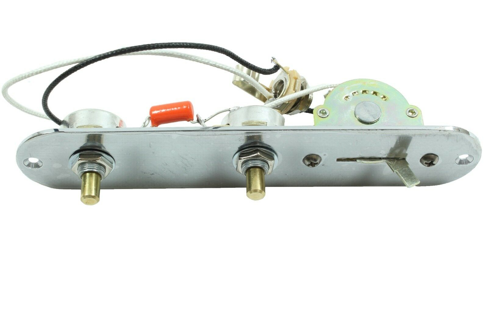Loaded Telecaster control plate (Import Größed plate) chrome, schwarz or Gold