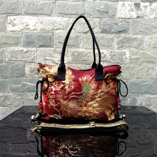 ALXB04 Ethnic Bag original embroidery tote bag beaded sequin classic canvas bag