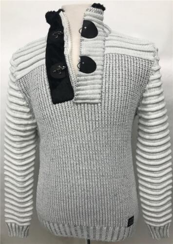 2 Alto Bianco 1 Maglione nero Zip Uomo W116 A Barabas Collo qTFWw8H
