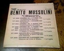 """Benito Mussolini 45 Giri"""" I DISCORSI """"E.P.2005/Edisc/10 Giugno 1940/Parte 1&2"""