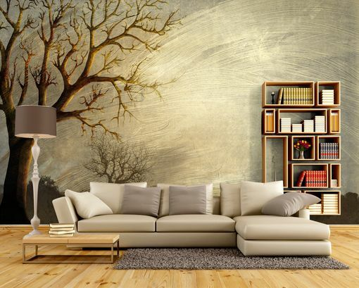 3D Herbstbäume 45455 Fototapeten Wandbild Fototapete BildTapete Familie DE