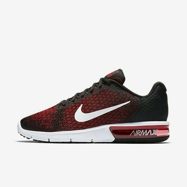 Nike Air Max Sequent 2 Black White Team Red 852461 006 Men's Running Shoes NEW!