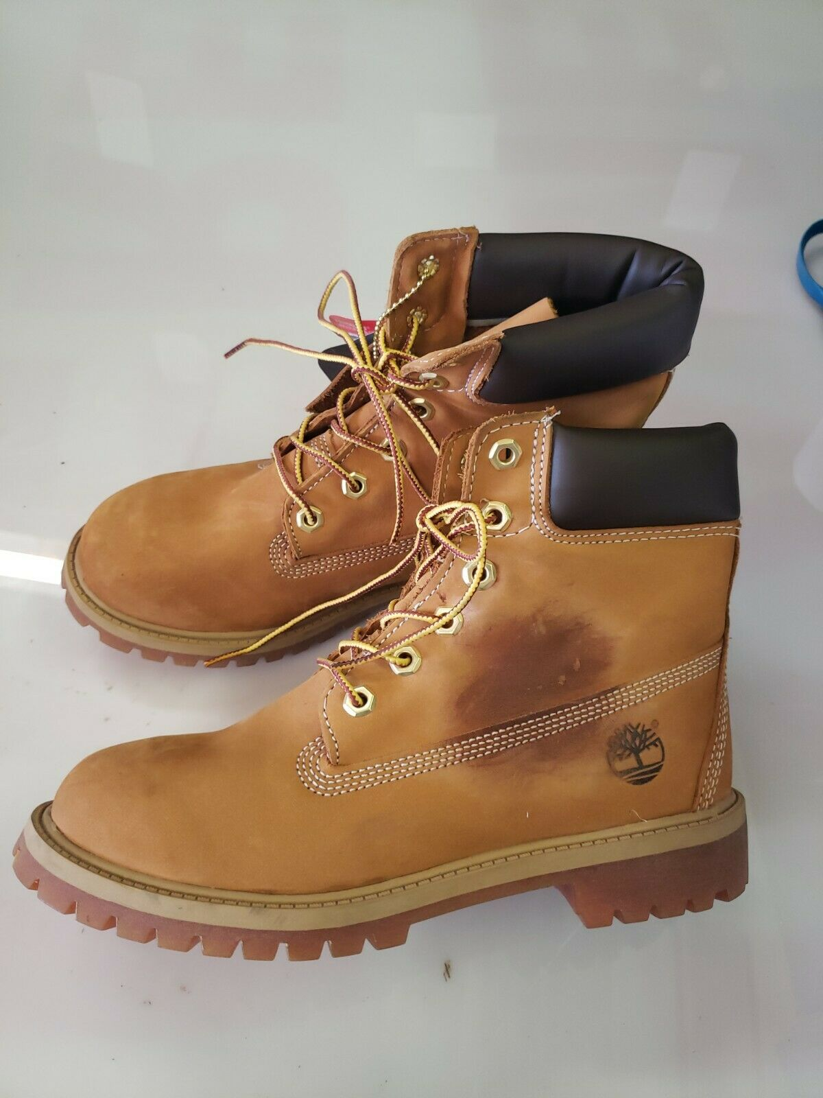 Timberland A1NJU Junior Euro Sprint Hiker Nubuck Leather Wheat Hiker Boots