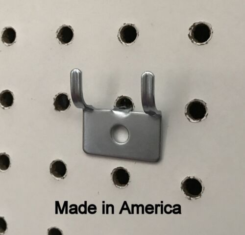 """Picture Notch Utility /'J/' Peg Hook For 1//8 to 1//4/"""" Pegboard w//Screws 500 PACK"""