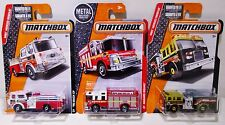 NEW Matchbox MBX Heroic Rescue Diecast Fire Trucks Engines Pumper Mack Lot