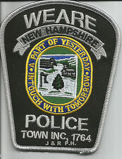 """Weare, NH  """"In Touch with Tomorrow""""  (3.5"""" x 4.5"""")  shoulder police patch (fire)"""