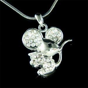 w Swarovski Crystal Cute Little MOUSE cheese Girls Charm pendant ... 5a1f2b7d8