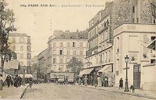 CARTE POSTALE PARIS XVIIe ARRT RUE CARDINET - RUE POUCHET