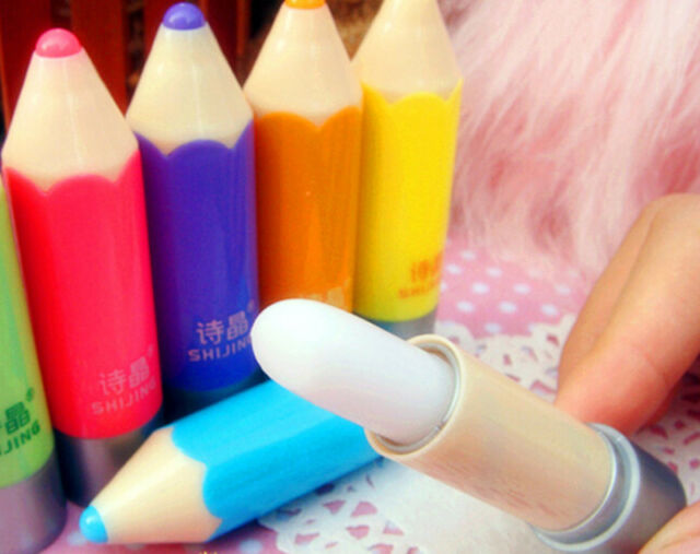 New Style cute  Fruit Pencil Type Colorful Balm Lipstick Lip 1Pcs
