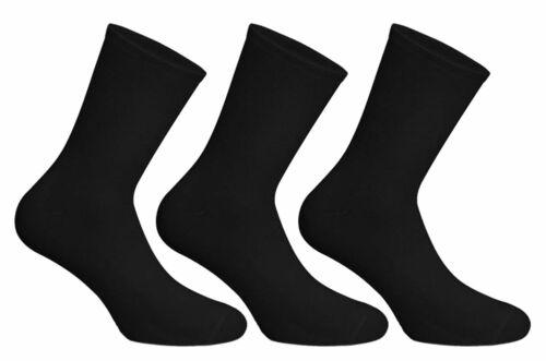 pack de 6 Socks Uwear Homme Riche en Coton Lisse Plain Court Chaussettes-UK 6-11 noir