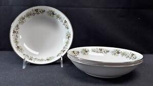 Royal-Doulton-English-Translucent-China-Vanity-Fair-TC1043-Set-of-3-Cereal-Bowls