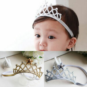 Image is loading Toddler-Baby-Girl-Lace-Hair-Accessory-Princess-Crown- bff43dfd301