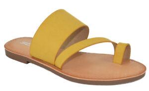 5a8363810077 Soda Shoes Women Flip Flops Flat Summer Sandals Thongs Toe Ring ...