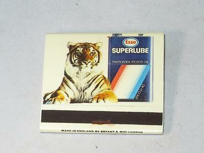 "COLLECTABLE ESSO /""SUPERLUBE/"" MULTIGRADE OIL MATCHBOOK New and Unused 1980s"