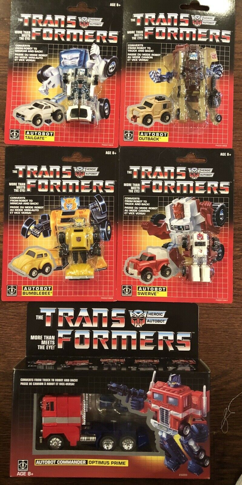 Transformers G1 Walmart Optimus Prime Bumblebee Swerve Outback Tailgate Autobot