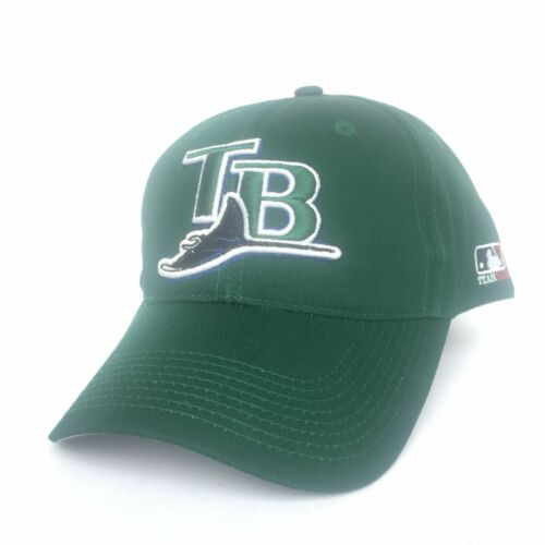 Tampa Bay Rays Baseball Hat Cap Twill réglable OSFM Throwback LOGO RARE NEUF