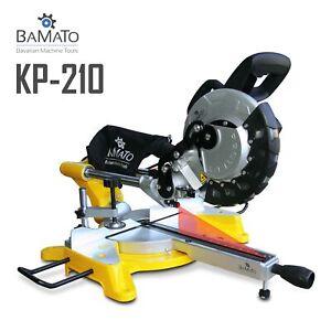 BAMATO Kappsäge & Gehrungssäge KP-210 mit Laser und 210mm Sägeblatt Säge Zugsäge