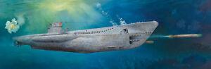 German-WWII-DKM-U-Boat-Type-VIIC-U-552-1-48-Plastic-Model-Kit-TRUMPETER
