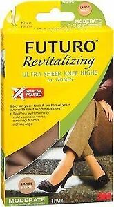 Futuro Revitalizing Ultra Sheer Knee Highs Large Nude