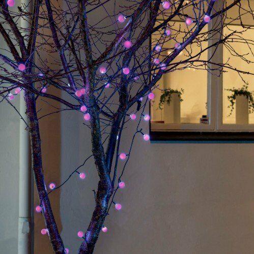 Konstsmide 3694-500 LEDGlobelichterkette für Außen mit RGB Farbwechsel