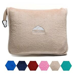 BlueHills-Soft-Airplane-Large-Travel-blanket-with-Hand-Luggage-Belt-Beige