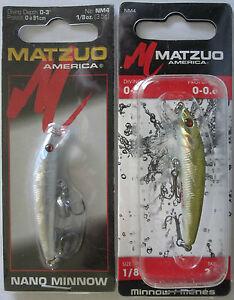 "1//8 oz - 2-1//4/"" MATZUO  Nano Minnow Two Popular Colors! 2"