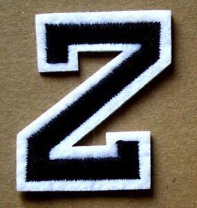 Letter-Z-Patch-Alphabet-Iron-Sew-On-Applique-Badge-Motif