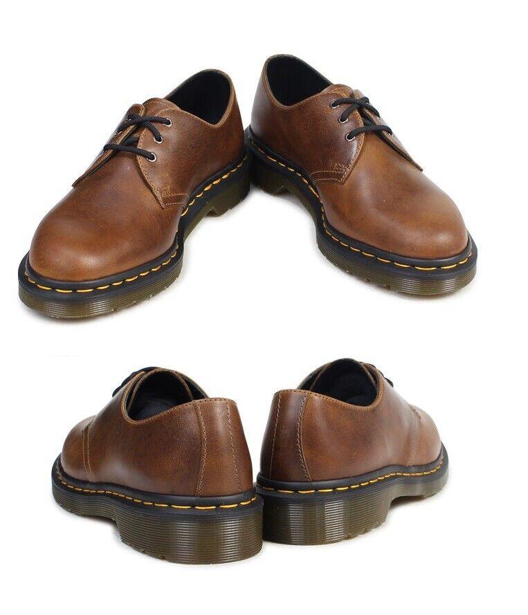 NEW Dr. Martens Men's 1461 Butterscotch Orleans wp Fashion Leather Boot shoes