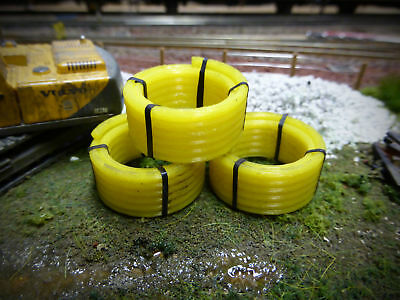 3x 3d Printed Coiled Yellow Pipe Lorry Loads 1:50 Scale Corgi Diecast Ax054-50