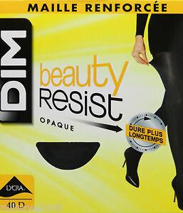 2-Pares-medias-panty-panthyhose-collant-DIM-beauty-resist-opac-40D