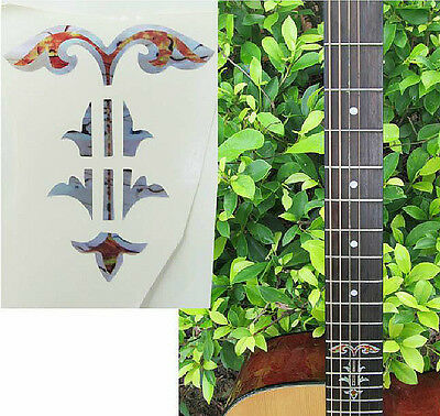 Guitar Inlay Stickers Flower Pattern Decals