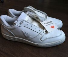 Vintage 80s PONY White Leather Skateboard Point Guard Basketball HipHop Shoes 11