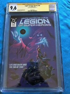 Legion-of-Super-Heroes-50-DC-CGC-SS-9-6-NM-Signed-by-Keith-Giffen