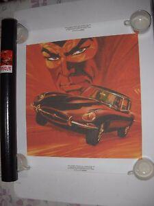 Bien Informé Poster Manifesto Diabolik Jaguar Tela Mycrom Tubo Gadget !!! Bellissimo